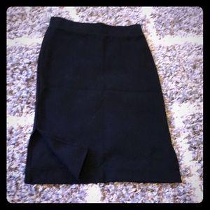Madewell Casual Black Pencil Skirt